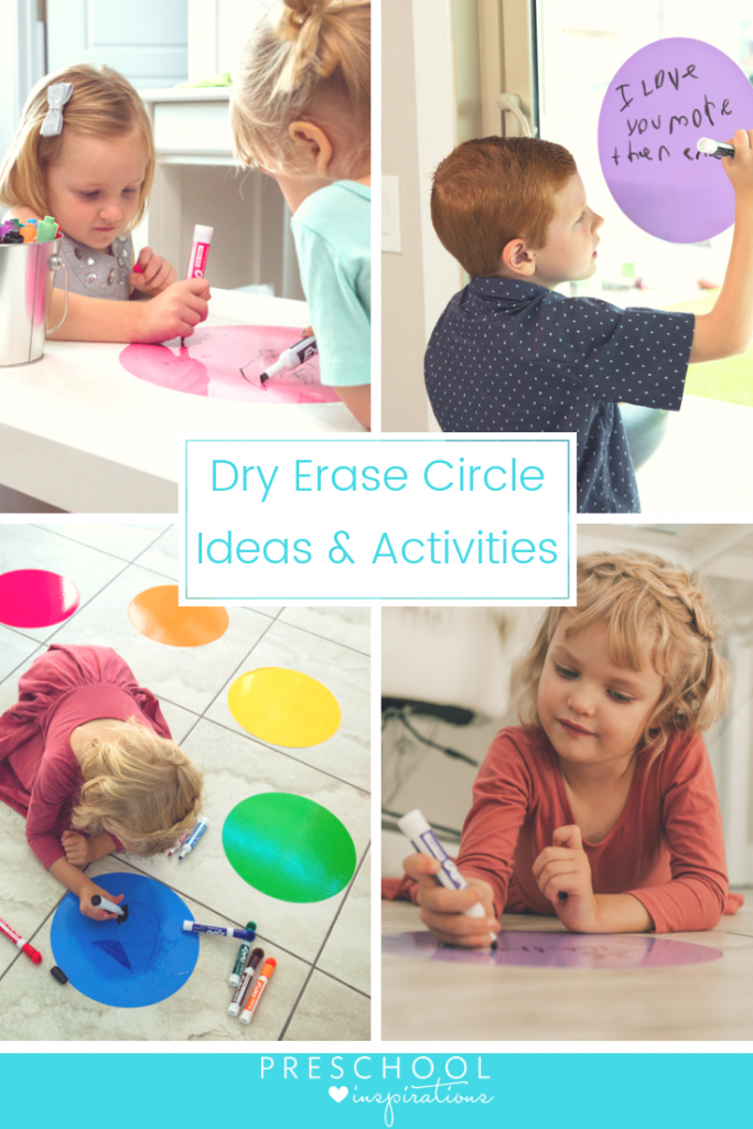 Use Dry Erase Circle Dots for teaching or the home