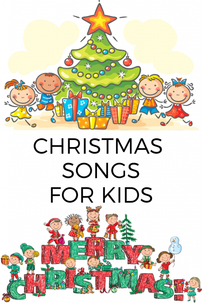 These Christmas songs for kids are perfect Christmas music to use in the classroom or at home. #Christmasmusic #songsforkids #preschool #kindergarten