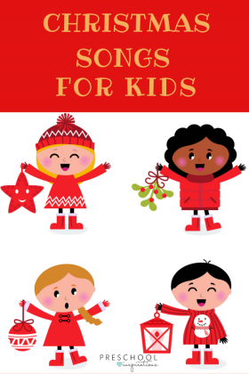 These Christmas songs for preschoolers are sure to be a hit with some of the best Christmas music and Christmas songs for kid. #songsforkids #Christmasmusic #preschool #kindergarten