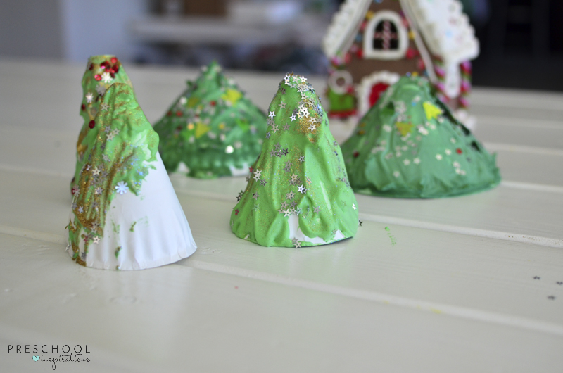 Puffy Paint Christmas trees