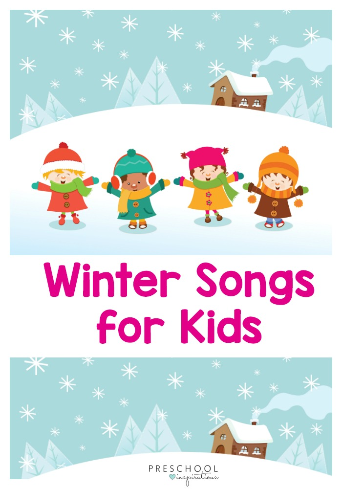 Winter songs are a great way to warm up those muscles with some gross motor movement! Enjoy these songs with your class or your kids at home. #preschool #prek #winteractivities #kidsactivities
