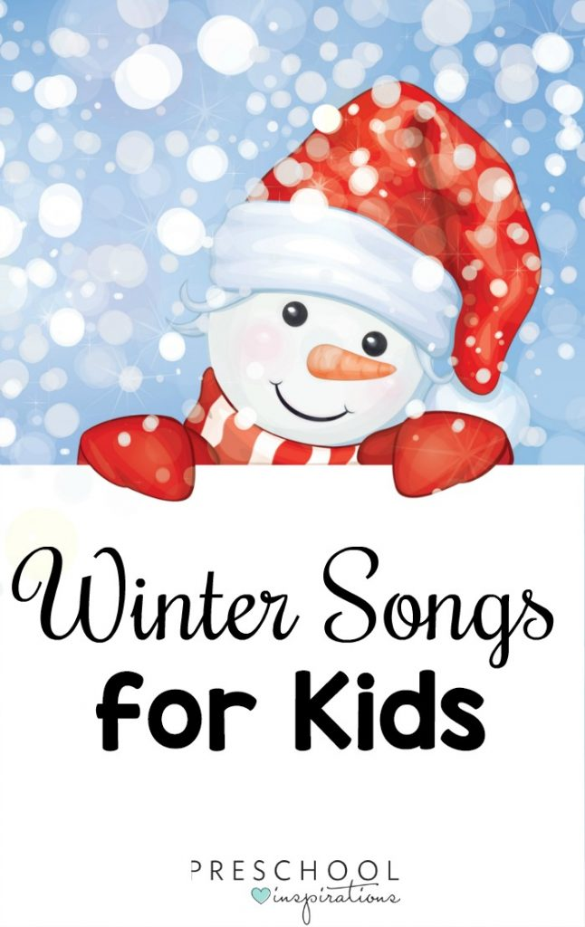 Ready to change up your music routine? Get your kids up and moving with these winter songs for preschoolers, kindergarteners, and beyond! #preschool #prek #kids #musicforkids