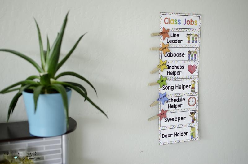 Editable Class Job Chart in preschool