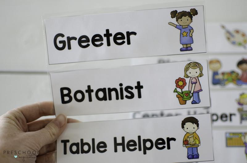 Classroom job helper