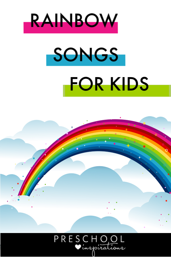 Use these rainbow songs for kids for teaching and for fun.