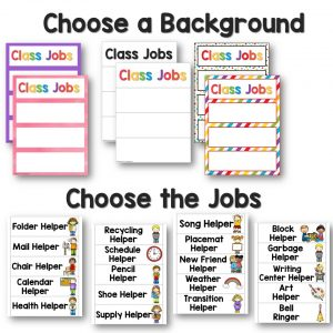 Choose the Background to build your own class job chart