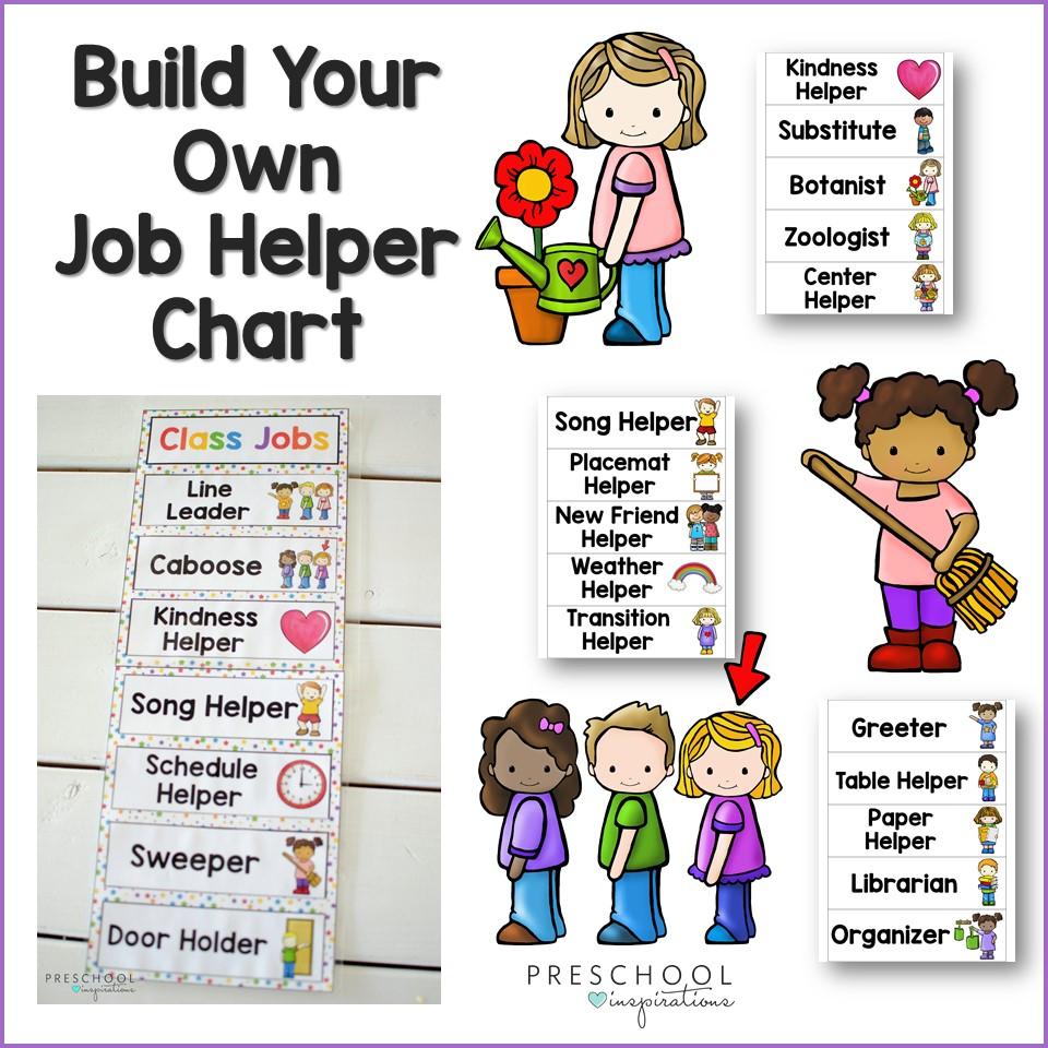 Classroom Jobs Helper Chart and Ideas - Preschool Inspirations