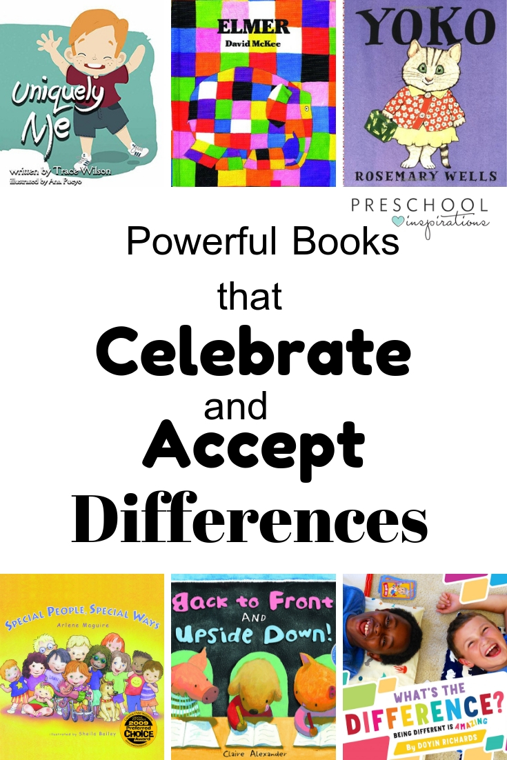 These books for kids are perfect for exploring, accepting, and celebrating the differences between us all! #preschool #booksforkids #booklist #specialeducation