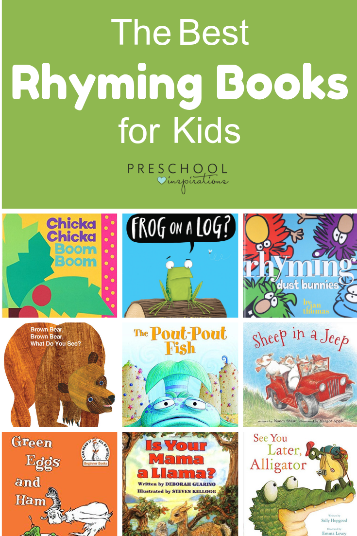 Rhyming is such an important early literacy skill! Captivate and teach your kids with these time-tested rhyming books. #preschool #prek #kindergarten #rhyming #booksforkids