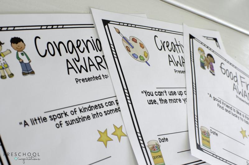 Class awards for pre-k