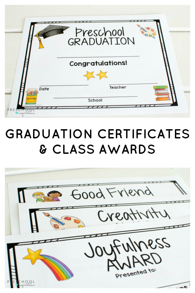 Graduation Certificates and Class Awards for Preschool ...