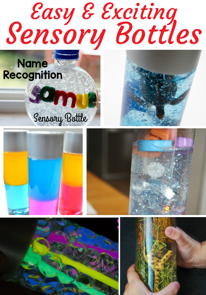 Themed Sensory Bottles that kids will not only enjoy but will help them strengthen skills and develop.