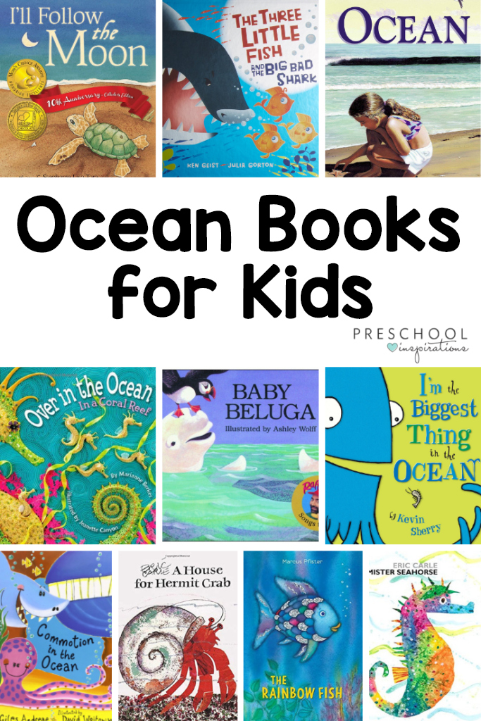 Dive into the ocean with these fantastic ocean books for kids! Great for summer reading or an ocean theme. #preschool #booksforkids #booklist #ocean