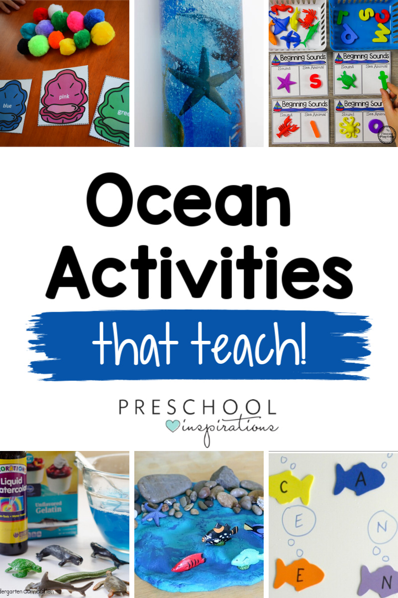 Ocean-theme activities that are perfect for preschool, kindergarten, and kids of all ages! Tons of hands-on learning activities that each teach a great skill like math, literacy, science, and more.