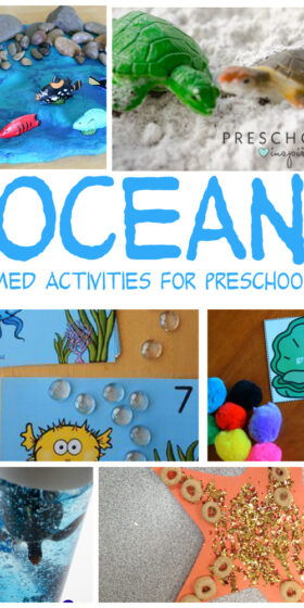 Engaging Ocean Themed Activities For Preschoolers. Including math, literacy, STEM, as well as art. Preschoolers will enjoy learning all about the ocean and ocean life with these fun activities!