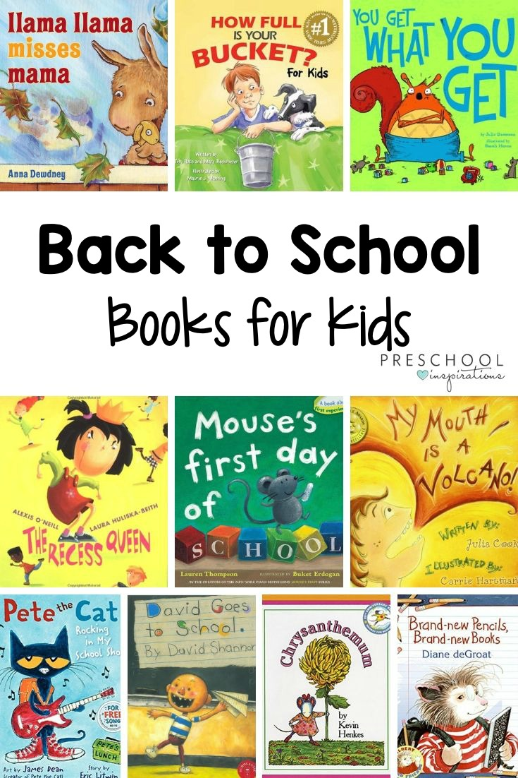 These back to school books are perfect to help prepare preschoolers, kindergarteners, and more for a new school year! Use them at home or in a preschool circle time. #preschool #backtoschool #booksforkids