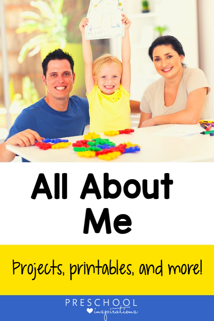 All About Me is a great back to school preschool theme! Explore name recognition activities, great all about me crafts, quick printables, and other great resources to go along with this theme. #preschool #prek #booksforkids #backtoschool #allaboutme #preschoolinspirations