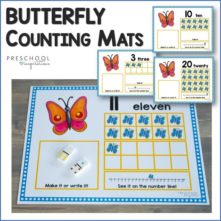 cover image for butterfly ten frame counting mats