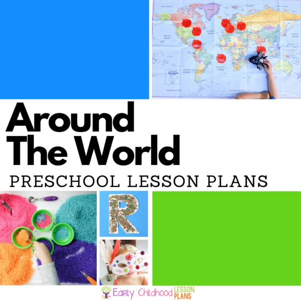 cover image for Around the World preschool lesson plans