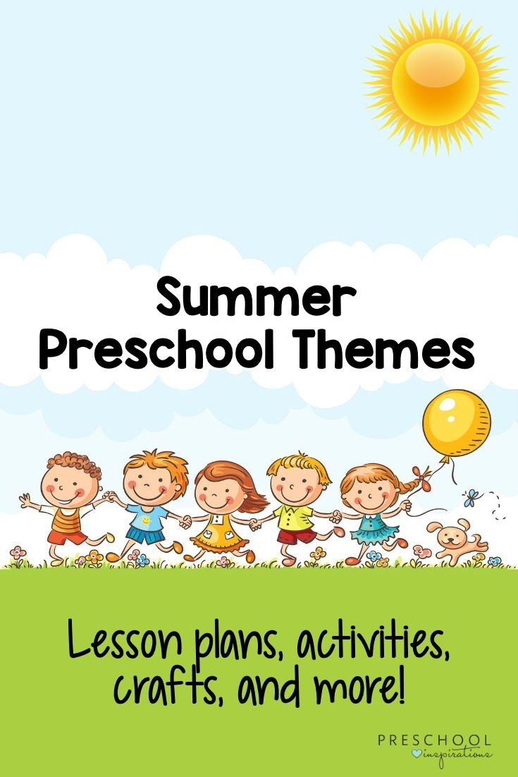 Fun preschool themes that all have to do with summer! Whether you need theme ideas, activities, lesson plans, or crafts, we've got you covered! #preschool #prek #summertheme #oceantheme #summercrafts #summeractivities