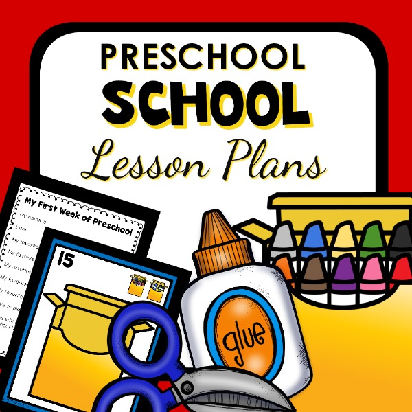 cover image for preschool school lesson plans