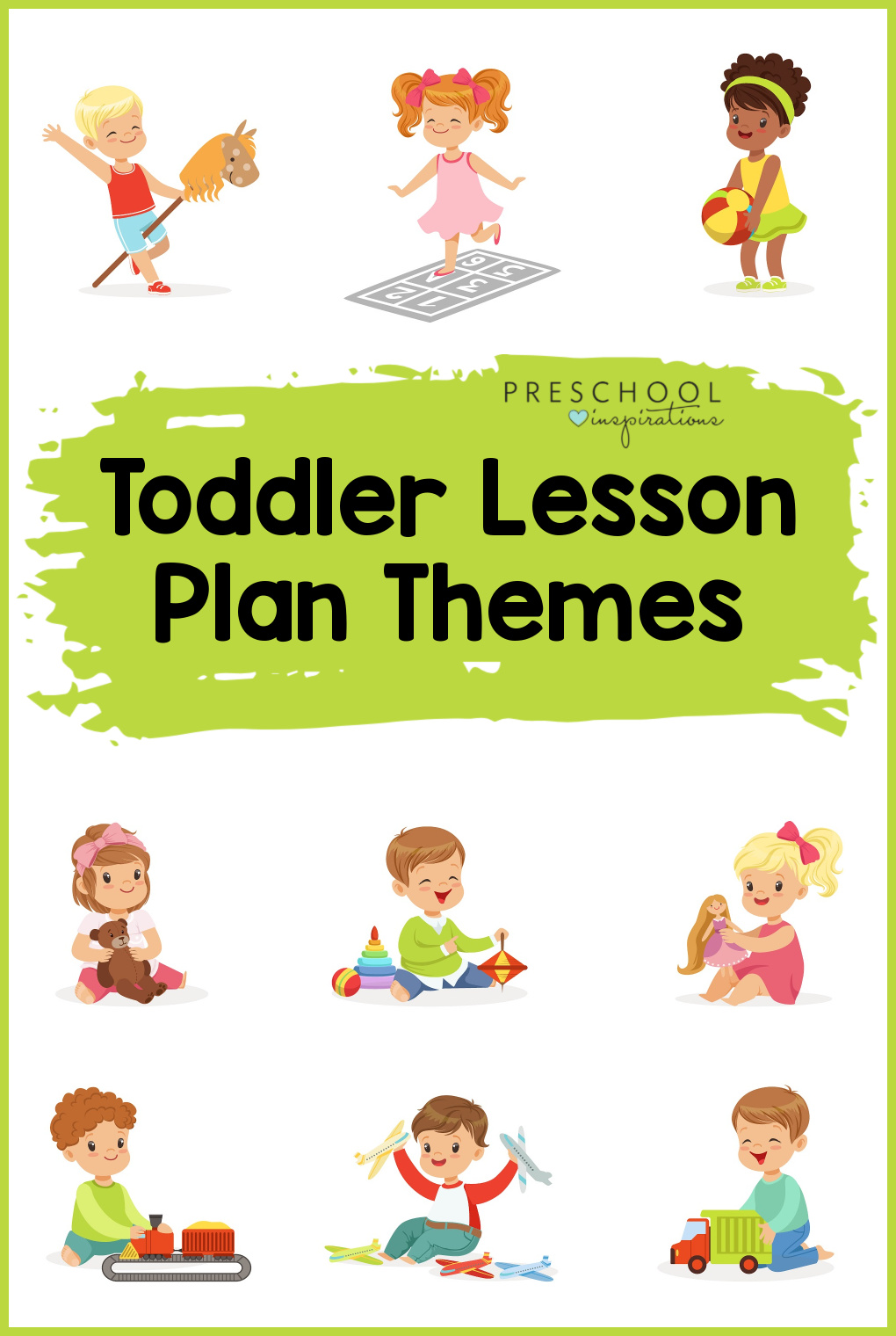Teaching toddlers is simple and fun when you use themes! Find themed ideas, activities, and lesson plans to go along with some of the most popular toddler themes, such as All About Me, Balls, Weather, and more!