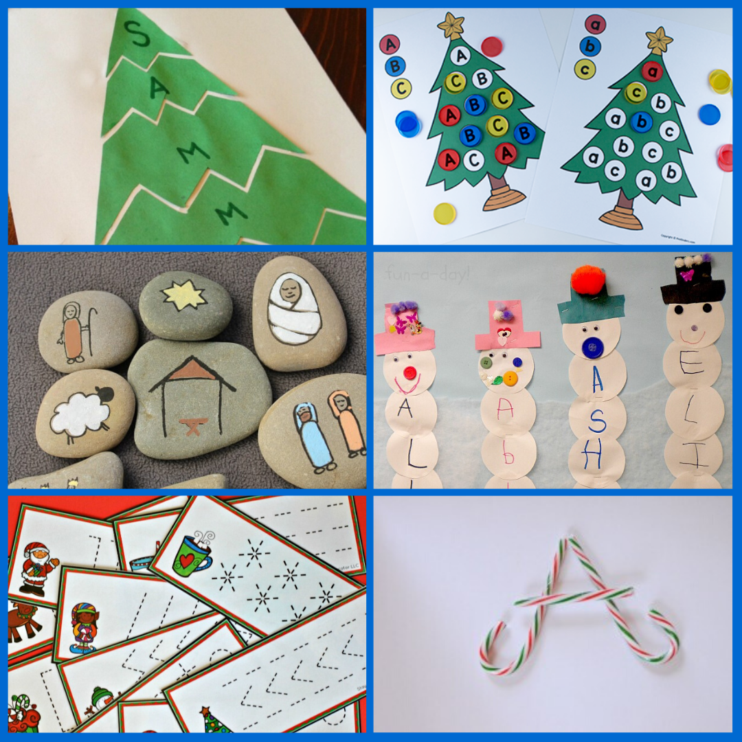 Preschool Christmas Alphabet Activities and Literacy Activities