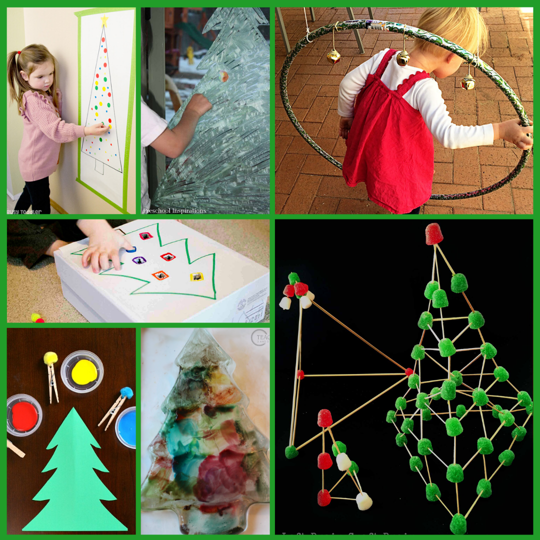 Preschool Christmas fine motor activities and gross motor activities