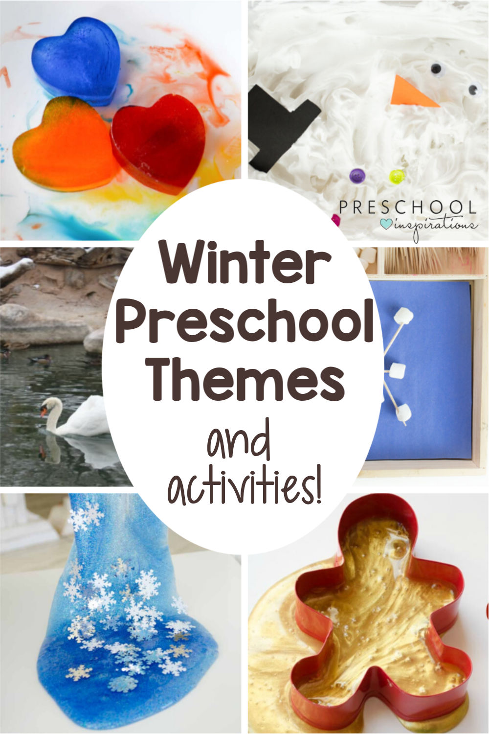 When it comes to teaching preschool in the winter, there are SO many fun themes to choose from! Arctic animals, gingerbread, family, and fun holiday themes like Christmas, New Years, and Valentines Day! Find crafts, activities, and more to go along with each. #preschoolinspirations #winter #preschool #prek #winterthemes #preschoolthemes #kidsactivities