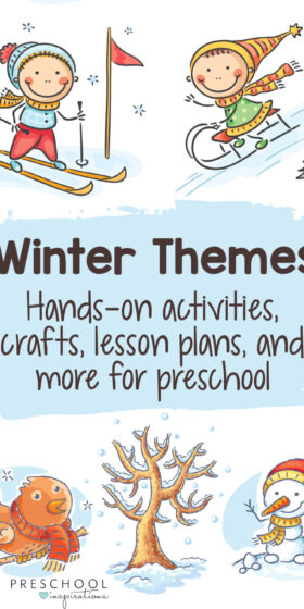 Whether you need winter crafts, hands-on learning activities, lesson plans, or themes for teaching preschool, we've got you covered! #preschoolinspirations #preschool #teachingpreschool #ece #preschoolthemes #winter #wintercrafts