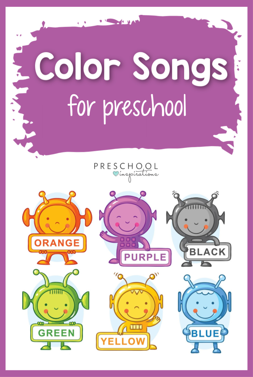 Learning about colors is an essential part of any preschool, and we think that using songs is the best way to do it! These color songs are great for toddlers, too. The list includes Spanish songs, too! #preschool #colors #songsforkids #preschoolsongs #toddlersongs