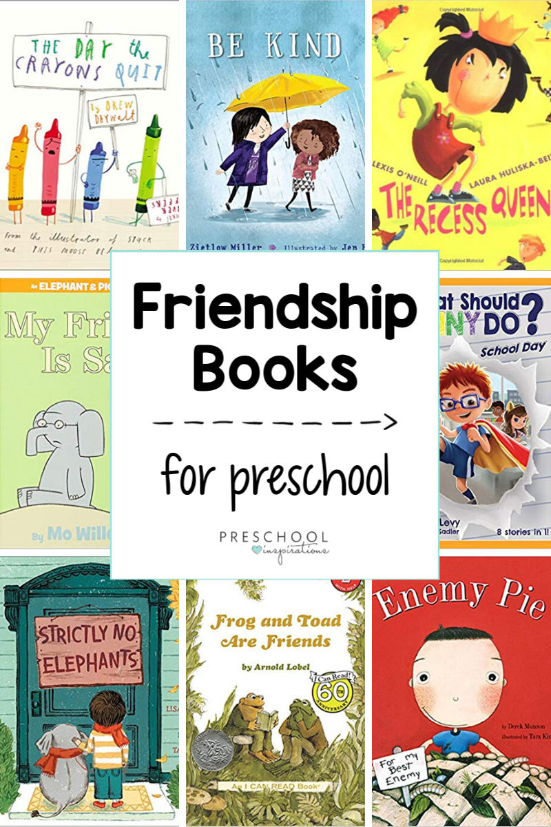 Fabulous friendship books for preschoolers! Kids are sure to love - and learn from! - these stories about friendship, being kind, taking turns, listening, and making positive choices.
