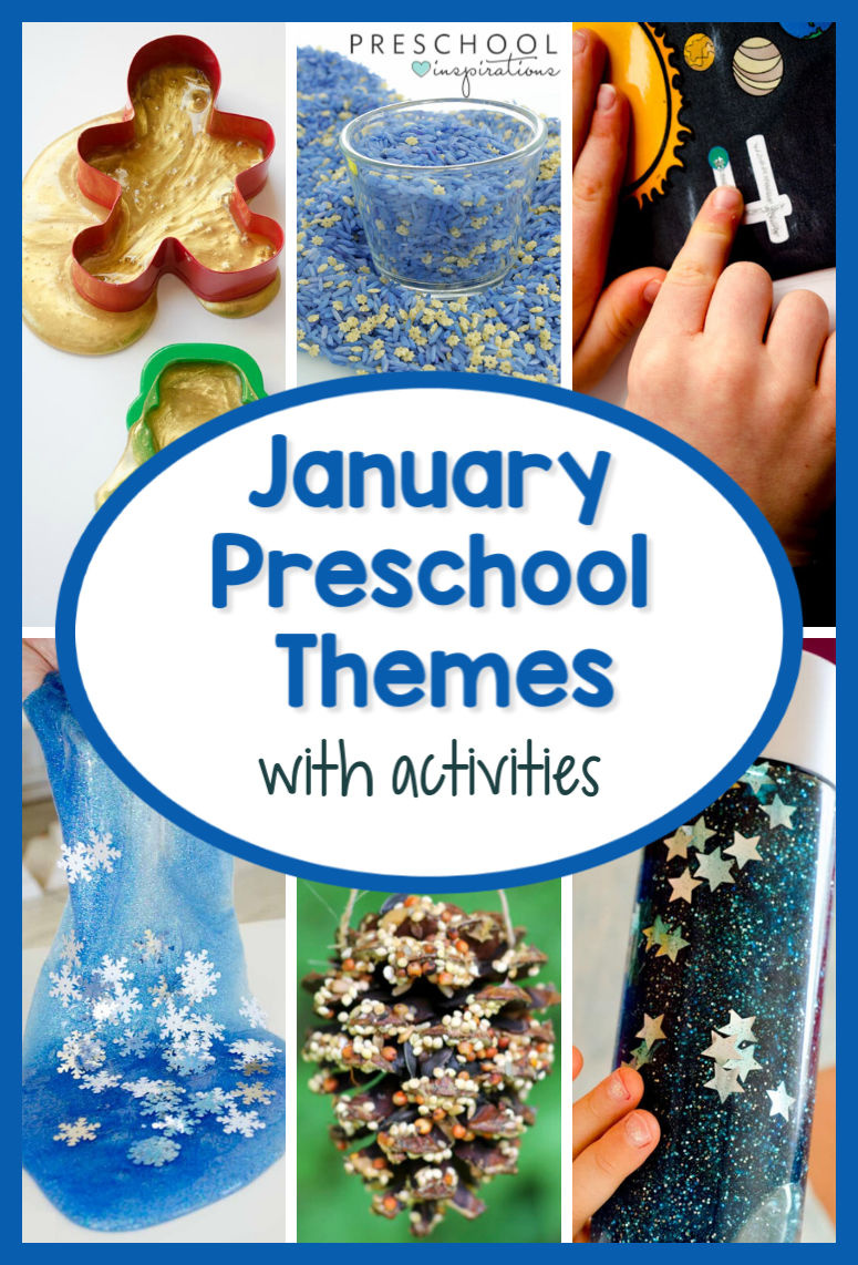Lesson plans, activities, crafts, art projects, and more great ideas for teaching preschool in January! #preschool #ece #januarythemes #preschoolthemes