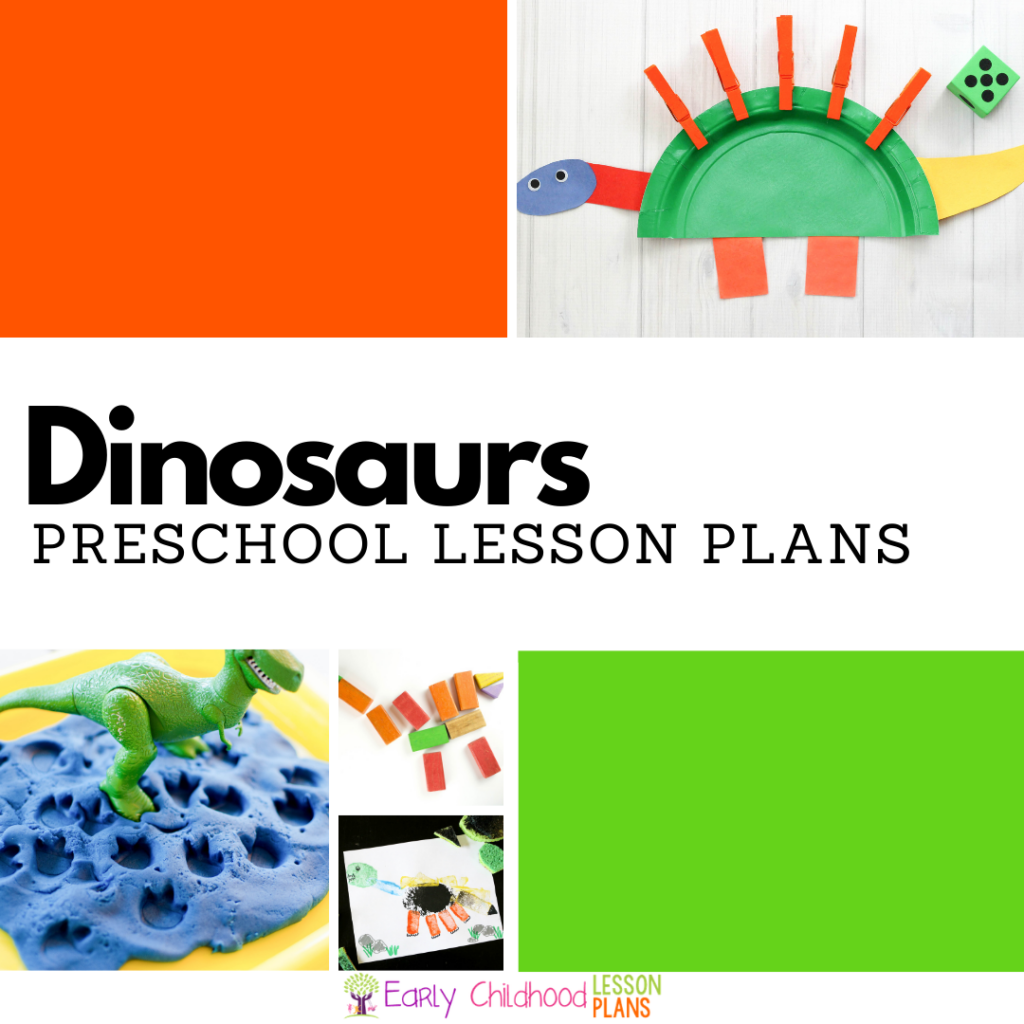 cover image for dinosaur preschool lesson plans