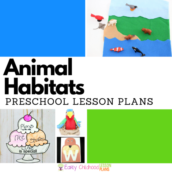 cover image for preschool animal habitats lesson plans