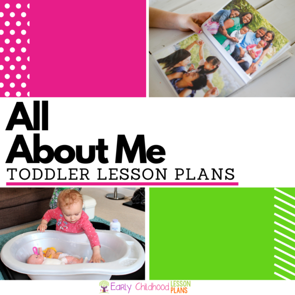 cover image for All About Me Toddler Lesson Plans
