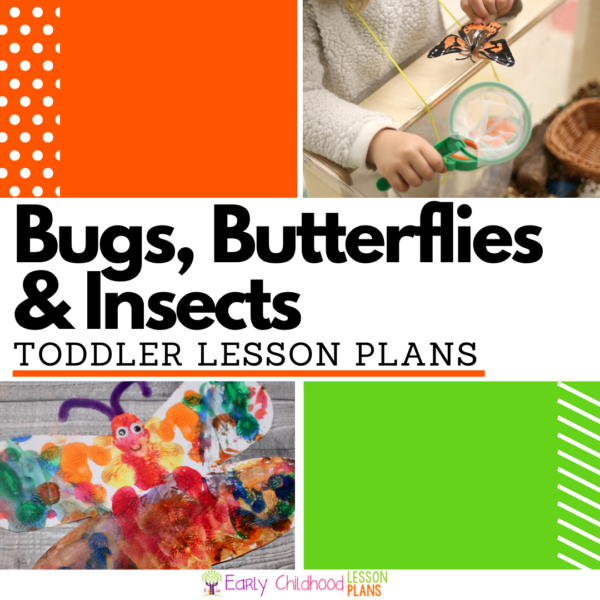 cover image for Bugs, Butterflies, and Insects Toddler Lesson Plans