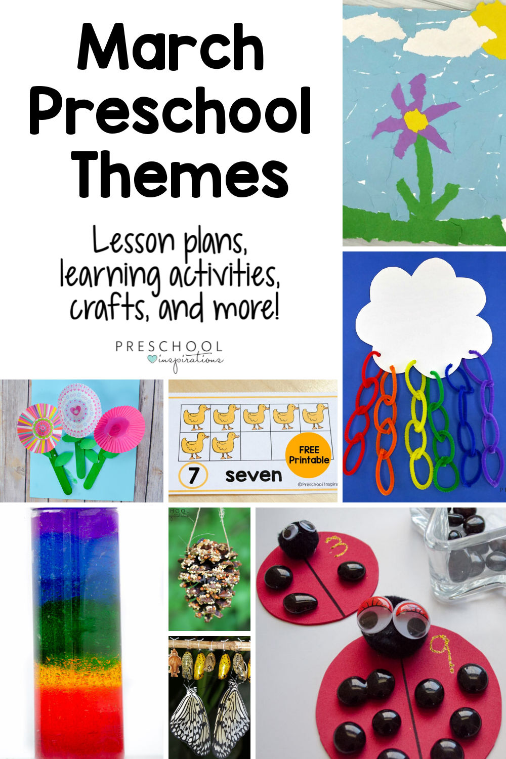 Use themes to make teaching preschool a breeze this March! Find lesson plans and other activities for great teaching themes such as bugs and butterflies, flowers, garden, worms, spring, and more!