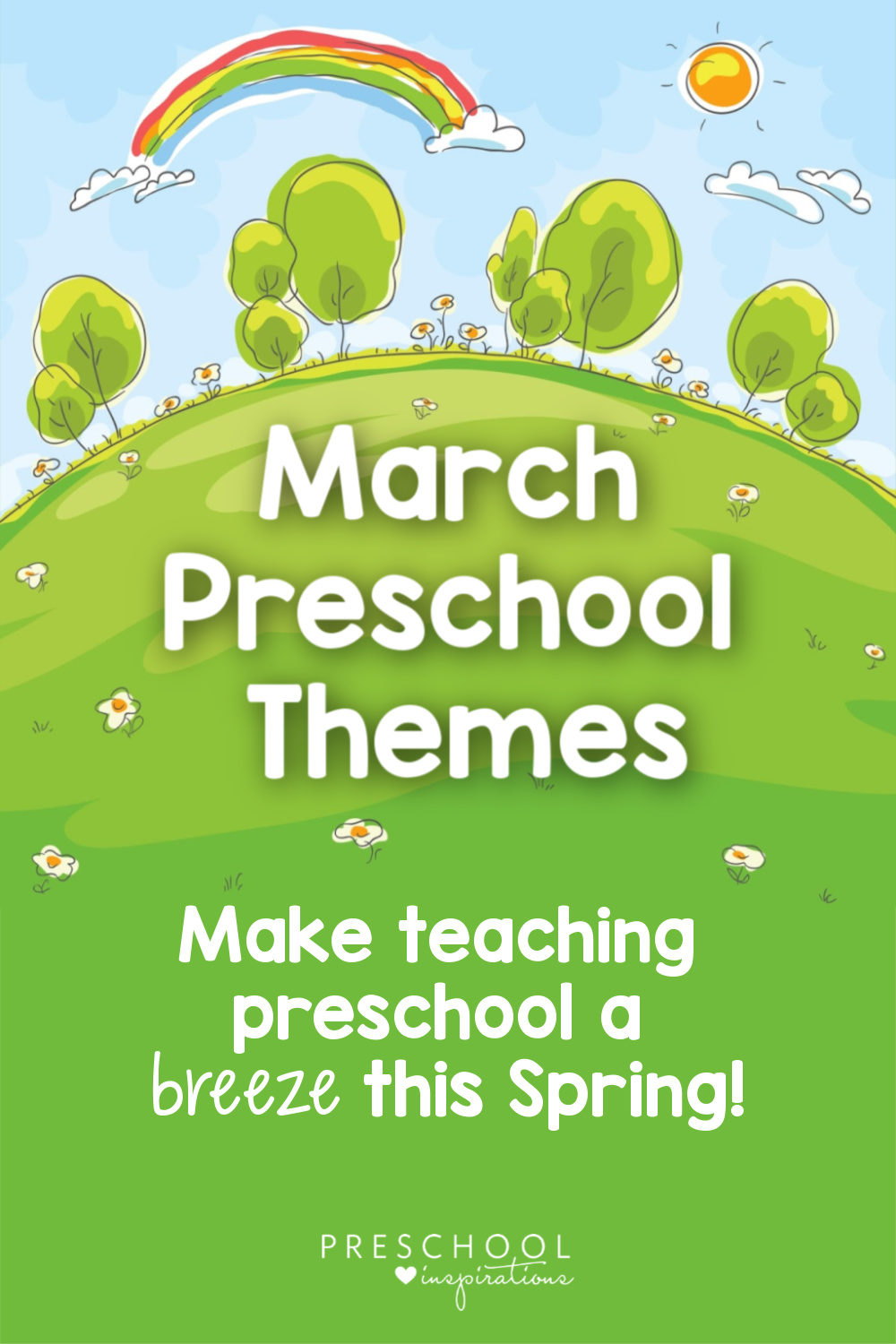 Use March themes to teach preschool this spring! Here's a list of great March preschool themes, as well as lesson plans, crafts, and hands-on learning activities for your classroom or at home!