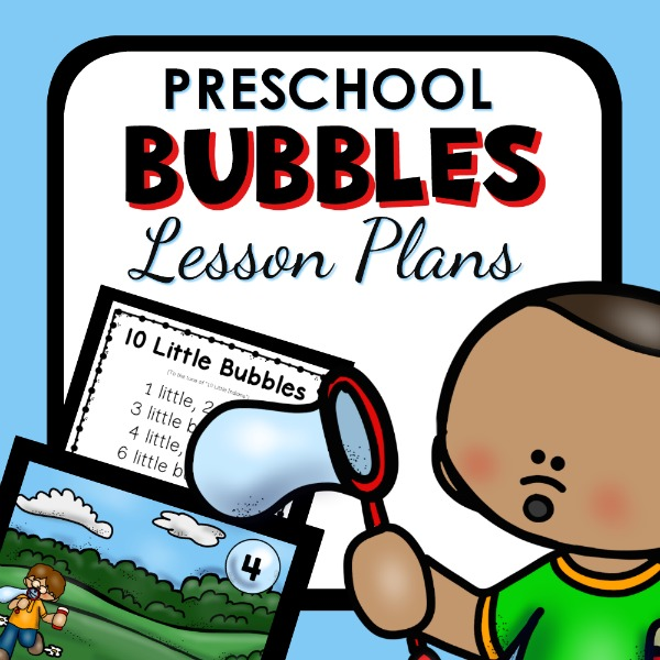 cover image for preschool bubbles lesson plans