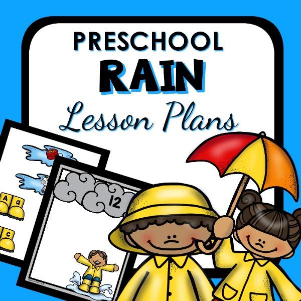 cover image for preschool rain lesson plans