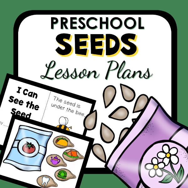 cover image for preschool seeds lesson plan