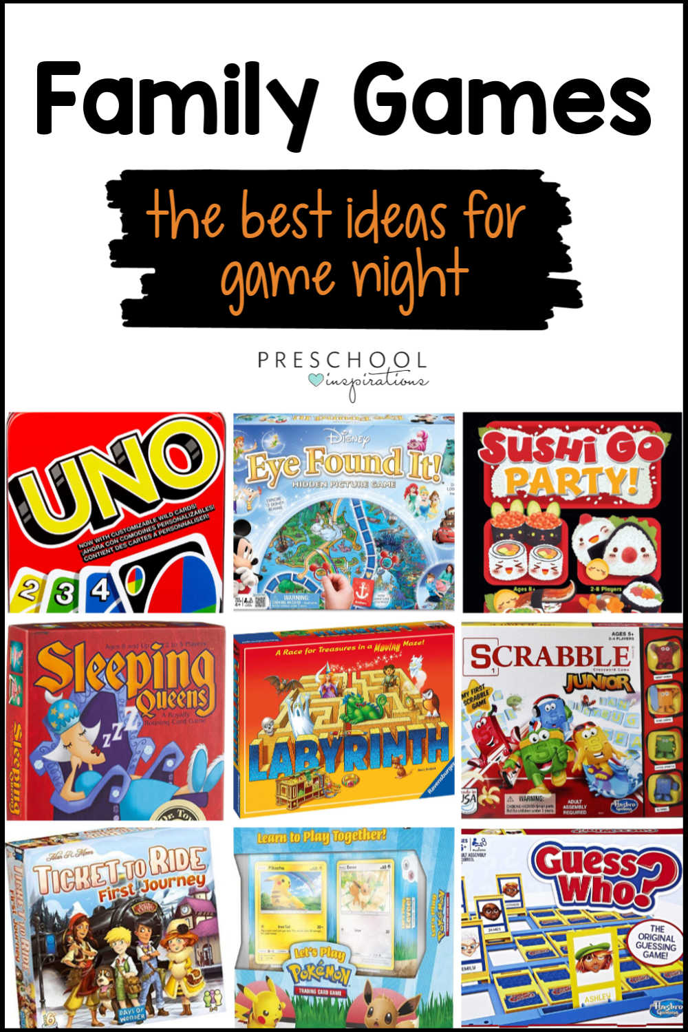 Find the perfect game for your next family game night! 20+ ideas for indoor games that kids and adults alike will love.