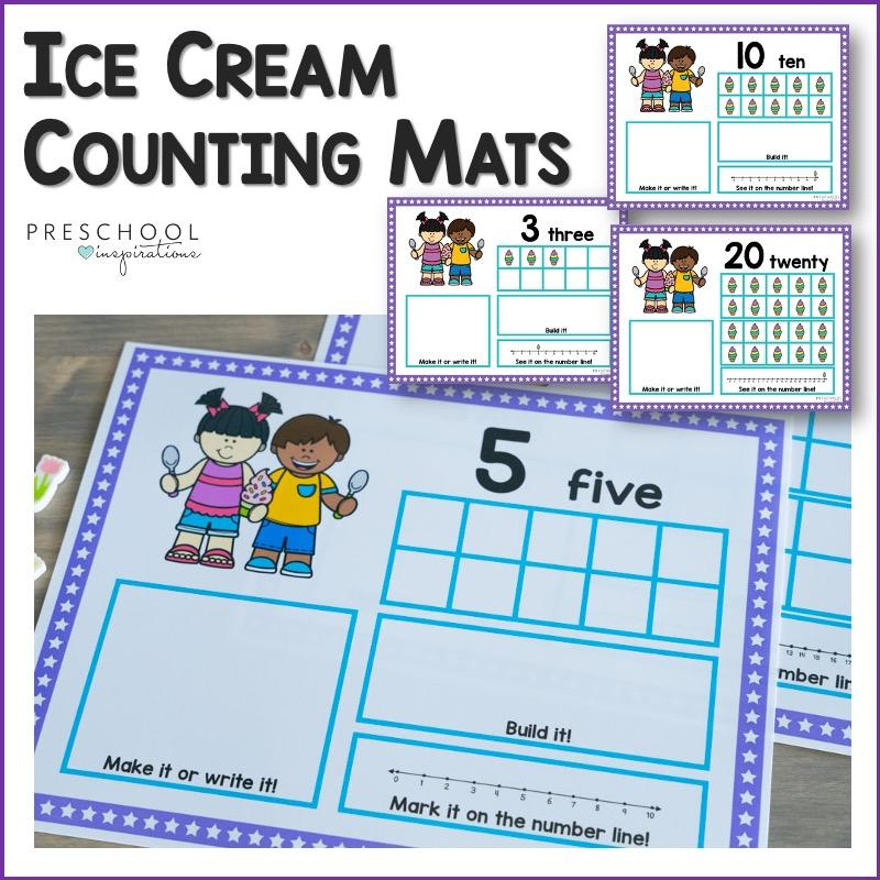 cover image for ice cream counting mats