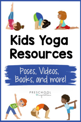 Get the best resources for yoga for kids, all in one place! An great compilation of poses, songs, videos, books, and more for kids yoga!
