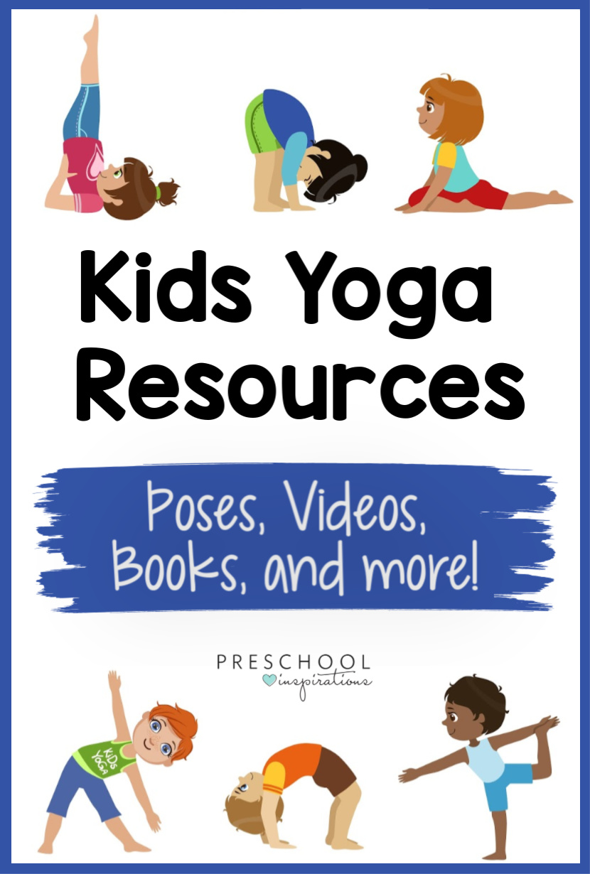 Get the best resources for yoga for kids, all in one place! A great compilation of poses, songs, videos, books, and more for kids yoga!