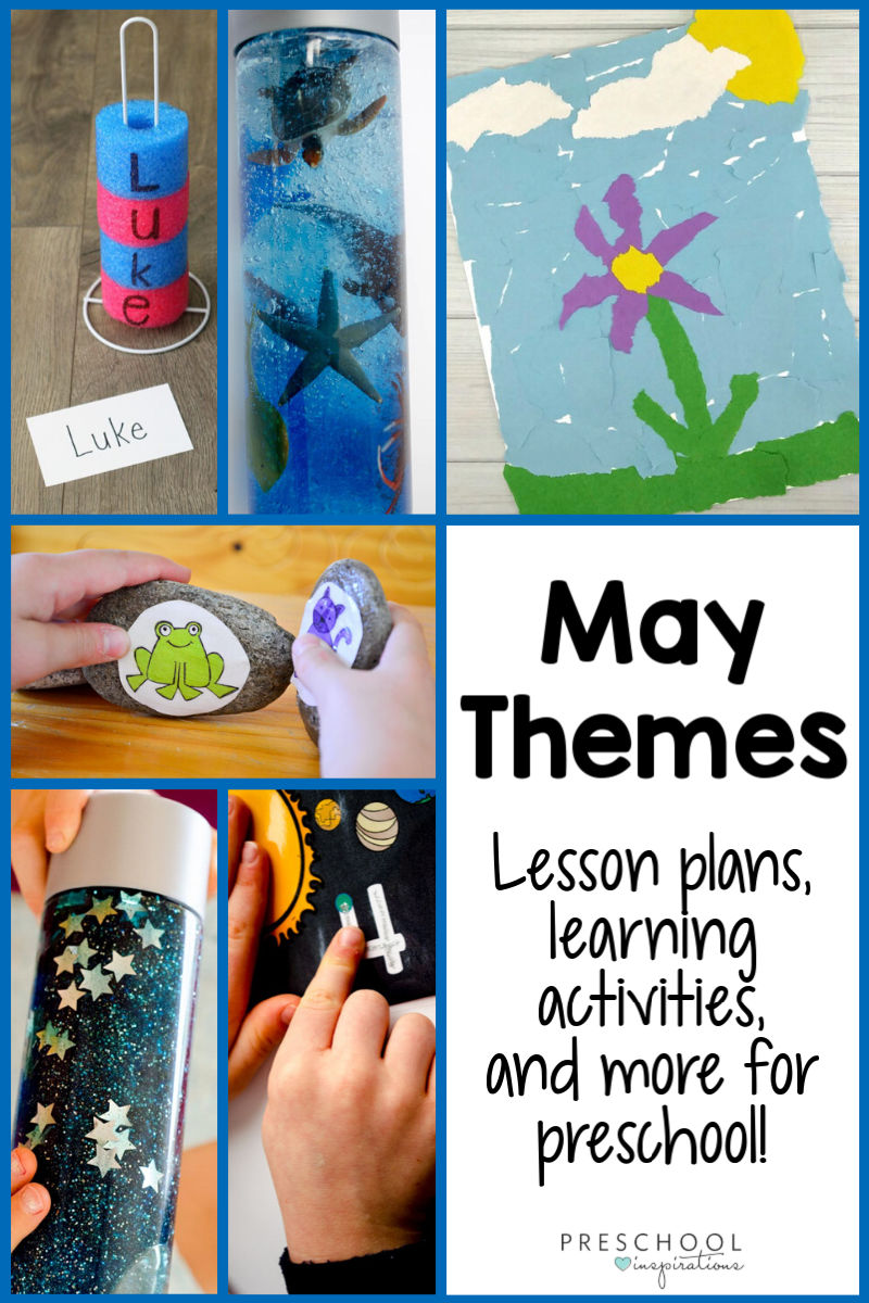 End the school year, or keep the learning going this summer, with May Preschool Themes! Explore great themes like ocean theme, beach theme, flower theme, and summer theme. There's lesson plans, hands-on learning activities, crafts, and more for each!