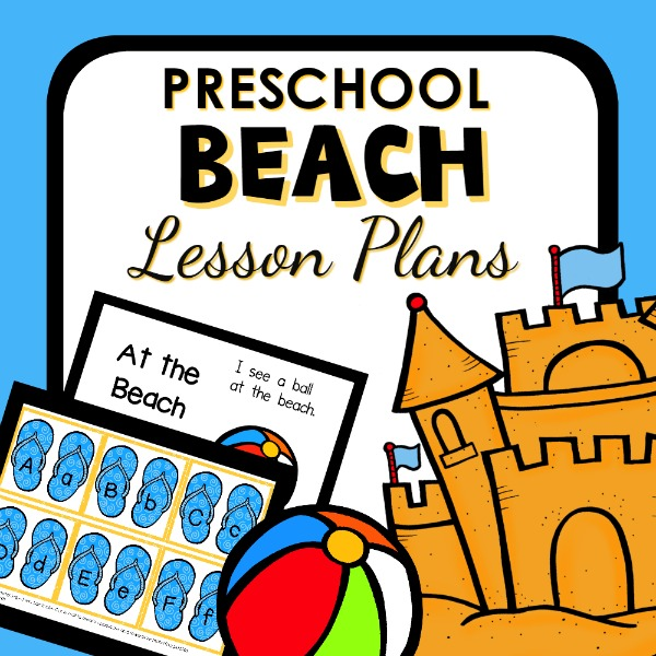 cover image for preschool beach lesson plans