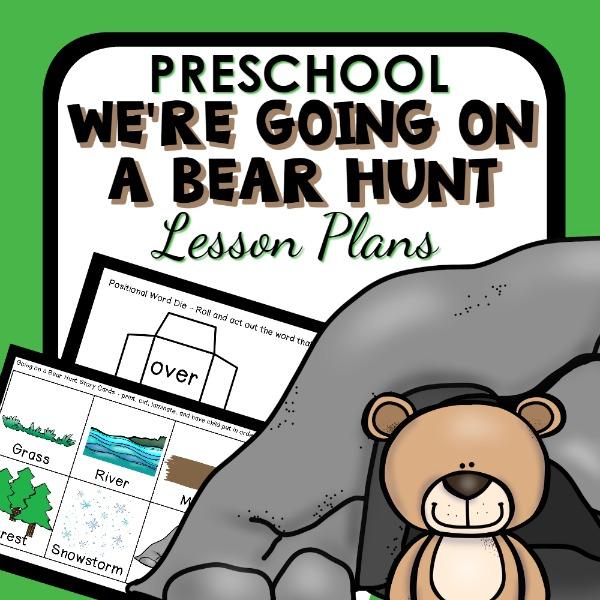 cover image for preschool bear hunt lesson plans