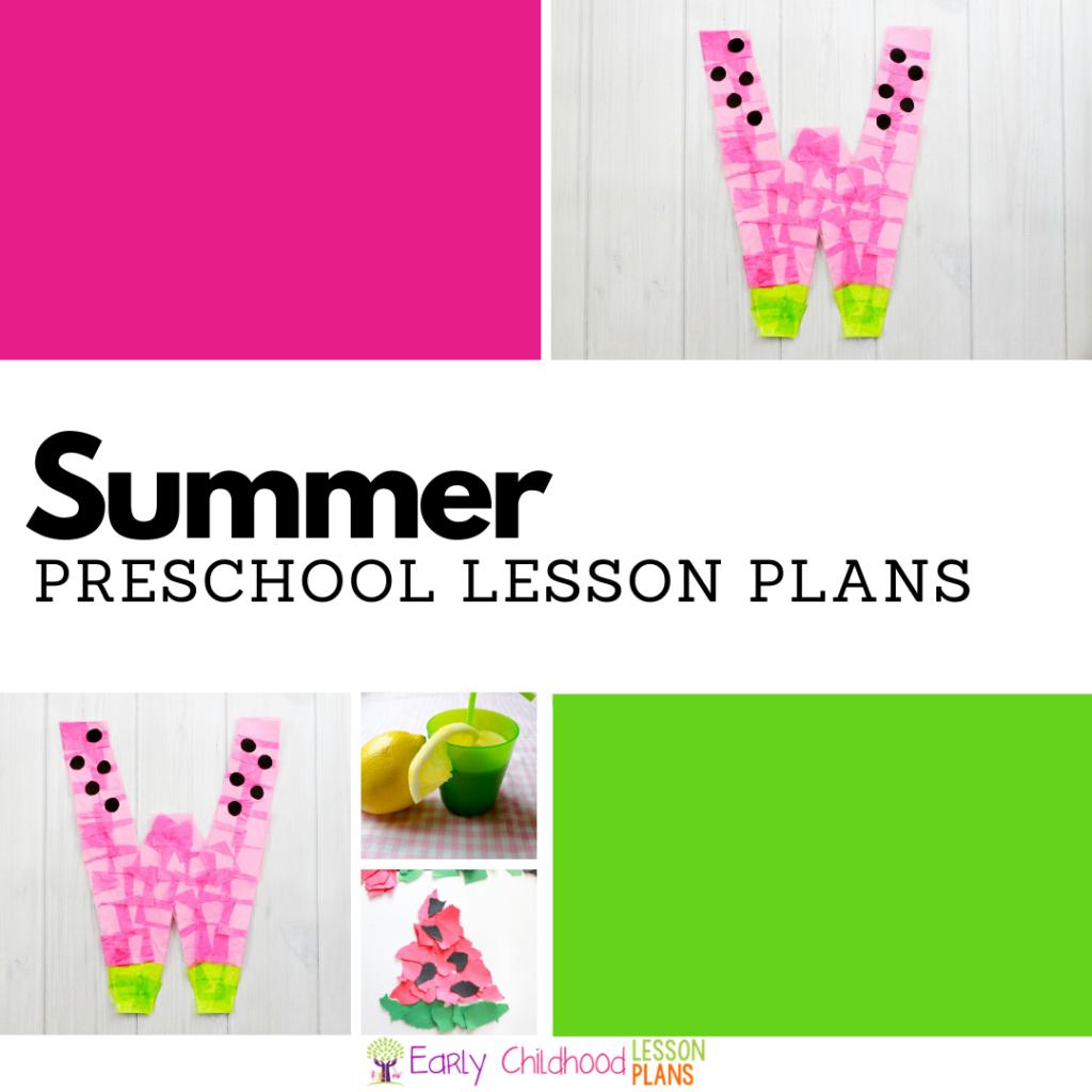 cover image for preschool summer lesson plans